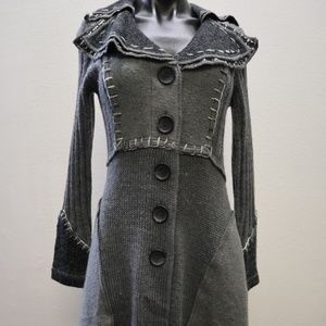 Mystree Gray Sweater Coat Size Small